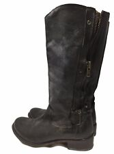 BARNEYS NEW YORK CO-OP BLACK LEATHER BOOTS, 38.5, $425