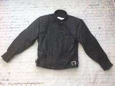 Richa Black Leather Motorcycle Motorbike Jacket  - Size 40