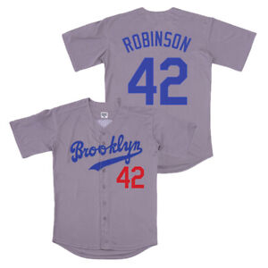 Jackie Robinson #42 Brooklyn Dodgers Baseball Jersey Stitched Men XL