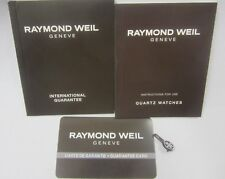 RAYMOND WEIL Quartz Watches Instructions for Use & Guarantee Books +Stamped Card