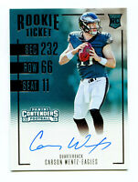 CARSON WENTZ 2016 Panini Contenders Rookie Ticket RC Auto Autograph Card SP /250