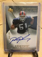 2007 UD EXQUISITE COLLECTION PAUL POSLUSZNY RC AUTO AUTOGRAPH #48/150 BILLS