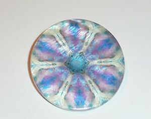 "Funky Purple Flower Mother of Pearl MOP Shank Button 1+3/8"" Purple Floral Funky"