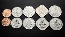 BAHAMAS UNC SET OF 5 COINS 1 5 10 15 25 CENTS 2005 2007 2009
