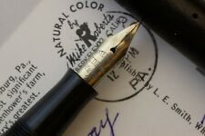 Waterman 12 VPSF in Black Chased Hard Rubber Super Flex Nib
