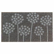 IKEA GIMMING Coir Grey/White Door Mat with Motif (40x70cm)