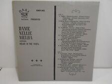 VINTAGE VINYL RECORD DAME NELLIE MELBA MELBA IN THE 1920'S OASI-562