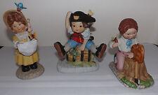 (3) Franklin Mint Debbie Bell Jarratt Figurines - Diana - Seth - Tobias (1985)