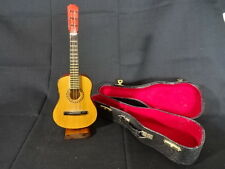 Collectible Toy Acoustic Guitar With Wood Stand And Case Musical Instrument
