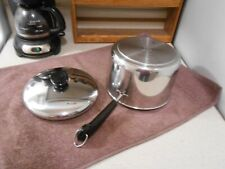 New listing 1996 Revere Ware Usa Tri-Ply Stainless 3 Qt Saucepan & Lid Clean & Shiny!
