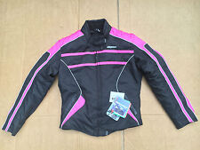 "RK Sports Ladies textile Motorcycle / Motorbike jacket uk 10 = 34"" chest (LB1)"