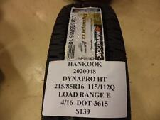 2 HANKOOK DYNAPRO HT 215 85 16 115/112Q LRE BRAND NEW PAIR 2020048