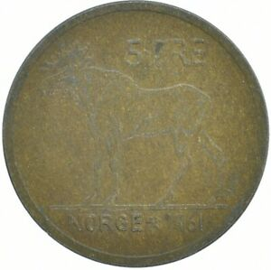 COIN / NORWAY / 5 ORE 1961     #WT16705