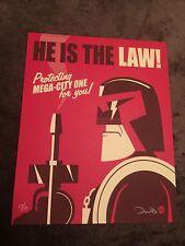 Dave Perillo Judge Dredd Handbill Movie Print Poster Mondo He Is The Law Blu-ray
