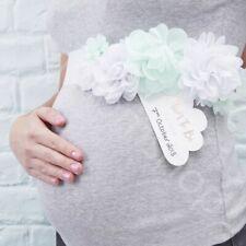 Hello World MUM TO BE Flower Sash Rose Gold Baby Shower Unisex Mummy To Be Sash
