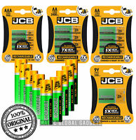 JCB Rechargeable Batteries AA AAA NiMH Pre Charged 1200 2400 900mAh Long Life UK