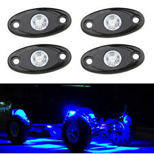 Blue LED Rock Light 4 pods Lights for Off Road Truck Car ATV SUV Under Wheel 4X4