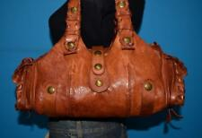 CHLOE Silverado Whiskey Brown Leather Whipstitch Hobo Shoulder Purse Bag $1100
