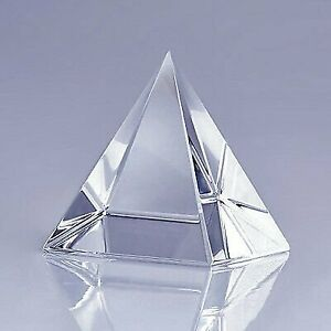 """High Quality Clear Crystal Pyramid 2.3"""" with Gift Box"""