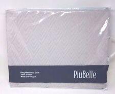 PiuBelle KIng Matelasse Quilt 100% Cotton, Light Grey