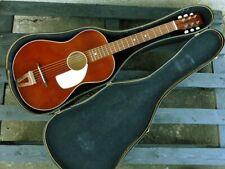 Egmond parlor 1973 guitar+original old hard case, super condition, unique thing.