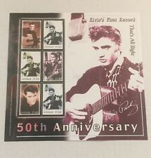 ELVIS PRESLEY 50TH ANNIVERSARY FIRST RECORD GRENADA $1.50 6 STAMPS ON SHEET