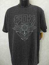 New Fox Racing Active Immunity Heather Black Tech Tee T Shirt Large #21-8