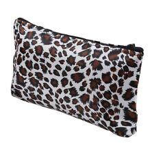 Women Zippered Leopard Print Cosmetic Holder Bag B1K9