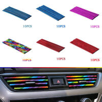 10x Car Truck Colorful Air Conditioner Air Outlet Decoration Strip Accessories