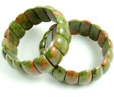 Natural Unakite Rectangle beads Gemstone Stretch Bracelet Jewellery Gift