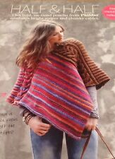 STUNNING LADIES PONCHO STRIPES AND CABLES KNITTING PATTERN ONE SIZE VGC