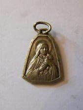 Médaille Pendentif Marie Argent Plaqué Silver Silber Ancienne
