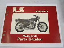 OEM Kawasaki 1978 KZ400 C1 Parts Catalog Fiche Book KZ 400 99910-1008-01