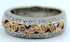 RARE: Gregg Ruth 0.43 cttw PINK & White Diamond Ring 18K White & Rose Gold!