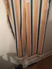 ASCENO Designer 100% Silk Pyjama Pajama Trousers Size Medium Multi Colour Stripe