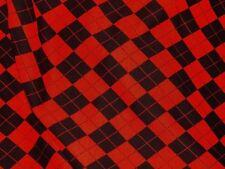 tissu molleton coton col noir & rouge 50x140 cm jogging, pull, etc....