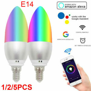 Wifi Smart Life APP Remote Control Bulb E14 LED Light Lamp for Alexa Google Home