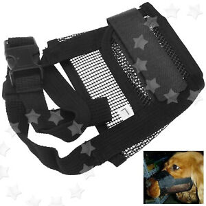 Safety Soft Pet Dog Mask Bark Bite Mesh Mouth Muzzle Grooming Anti Stop Chewing