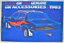 1983 GM AUTOMOBILE CAR ACCESSORIES ADVERTISING SALES BROCHURE GUIDE VINTAGE