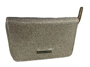 """Bare Minerals Make Up Cosmetic Bag LIMITED ED """"Glitz and Glam"""" SPARKLY GOLD New"""
