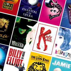 BEST UK CLASSIC MUSICAL THEATRE POSTERS - A4 A3 A2 Prints - Matilda, Hairspray