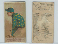 N22 Allen & Ginter, Racing Colors of the World, 1888, Mon. Ephrussi