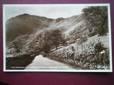 POSTCARD RP CAERNARVONSHIRE THE MAIDEN OF SNOWDON FROM LLANBERIS PASS