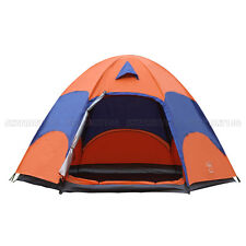 New 5-8 Person Family Instant Tent Hiking Camping Outdoor Waterproof Two-Layer
