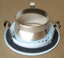 """4"""" RECESSED CAN LIGHT SMOOTH CHROME REFLECTOR OPEN TRIM R20 PAR20 BAFFLE 120V"""