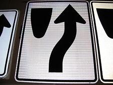24X30 KEEP RIGHT AUTHENTIC STREET TRAFFIC SIGN 3M HIGH INTENS DIAMOND PRISMATIC