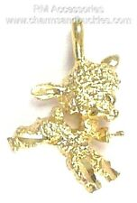 Easter Lamb Charm / Pendant EP Gold Plated with a Lifetime Guarantee