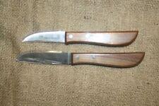 2 x  Omas Küchenmesser, Schnitzer, Schälmesser, Kartoffelmesser, Kirschholz, neu
