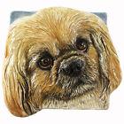Pekingese Dog Ceramic Tile Handmade 3d Pet Portrait Sondra Alexander Art