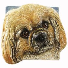 Pekingese Ceramic dog tile bas-Relief Effort For Mom by Sondra Alexander Art